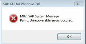 panic SAP