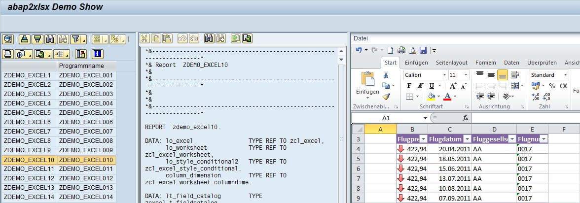 ABAP2XLS Democenter