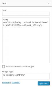 text-widget