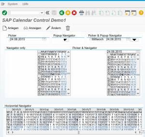 SAP Blue Crystal Design - Calendar