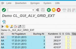 SAP Blue Crystal Design - ALV Grid