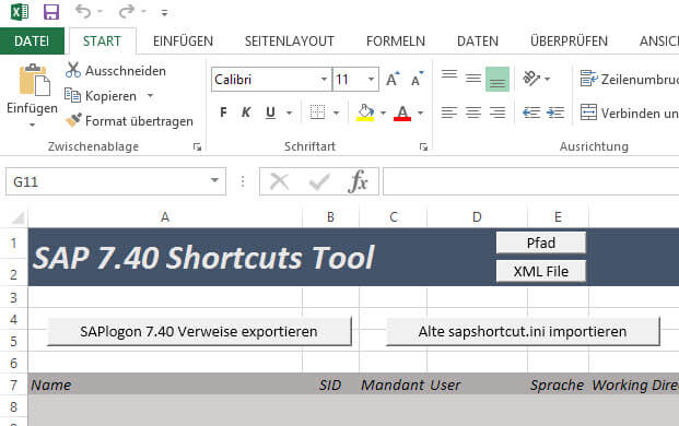 SAPLogon Shortcuts wiederherstellen