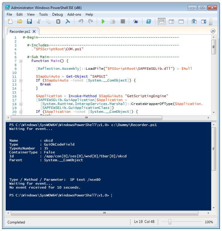 SAP GUI Scripting Rekorder mit Windows PowerShell - Tricktresor