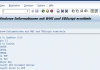 Windowsdrucker mit VBScript ermitteln